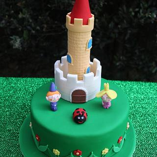 Ben and Holly's Little Kingdom Cake - My first Novelty Cake