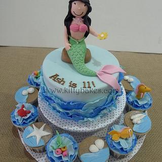 Ruffle Waves Mermaid Cake