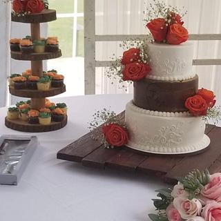 Tree Rustic Wedding Cake
