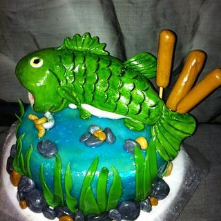 Fathers day fishing cake!
