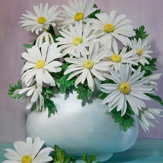Sugar Art for Autusm 2017 - White Dasies