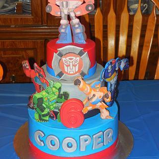 Rescue Bot 6th Birthday Cake