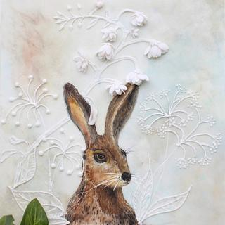 Easter Hare - handpainted multidimensional sugarwork