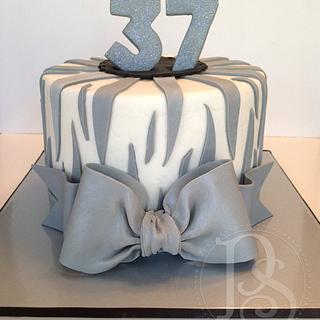 Gray Zebra Cake