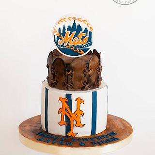 Mets Baseball Styled Cake - Cake by Delicia Designs