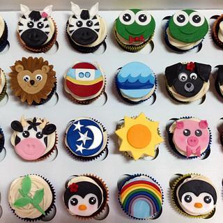 2nd Birthday Noah's Ark Cupcakes