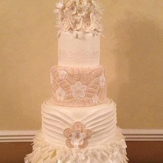 1920s style 5 tier wedding cake