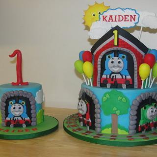 Thomas the Train 1st Birthday - Cake by Jessica Allard Costales