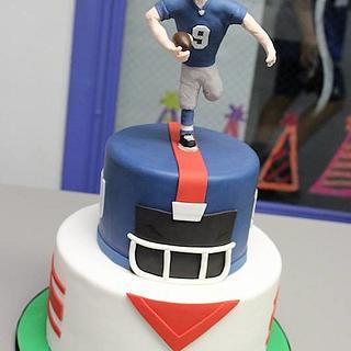 NY Giants Football Player Cake