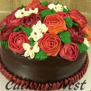 Buttercream Rose and Ranunculus bouquet