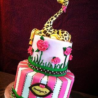 baby shower giraffe cake