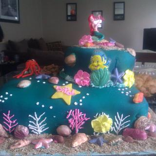 Ariel the mermaid cake