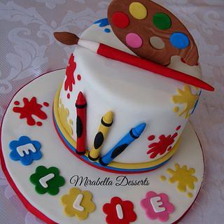 Little  artist cake - Cake by Mira - Mirabella Desserts