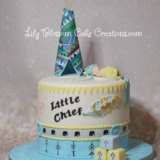 Native American Baby Shower Cake