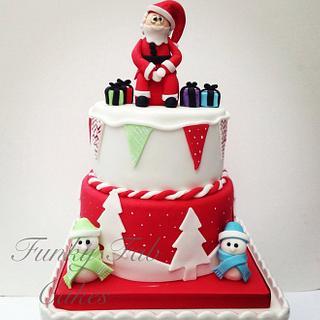 2 tier Christmas cake