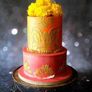Traditional Indian Baby Shower Cake