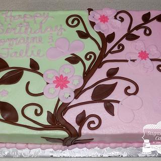 Mint & Pink w/Flowers