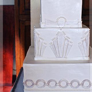 Art Deco Wedding Cake, Squares