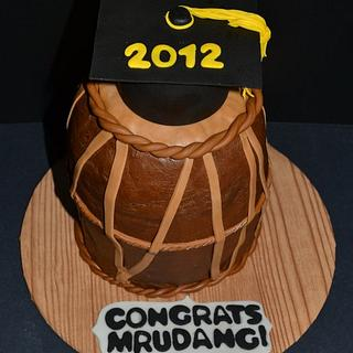 Dhol Cake (Indian Instrument)