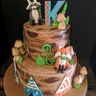 Woodland Birthday Cake..