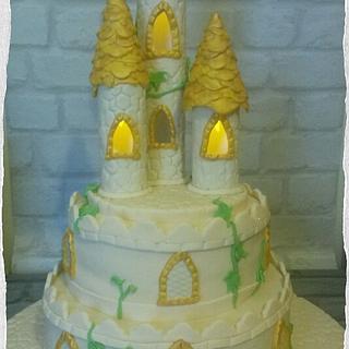 Cream & Gold Castle