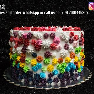 A Colorful Cake (inspired by internet)