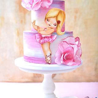 Cute Ballerina Cake