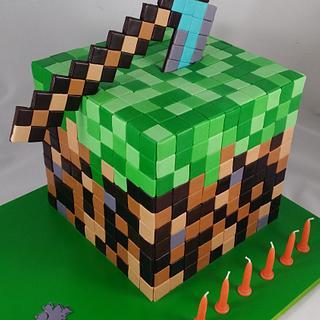 Minecraft Brick & Pickaxe