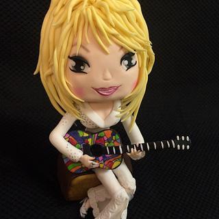 Dolly Parton anime style figurine