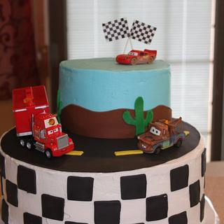 Disney Cars Birthday Cake for my 3 yr old son