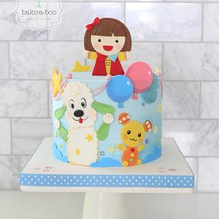 2D japanese cartoon cake design