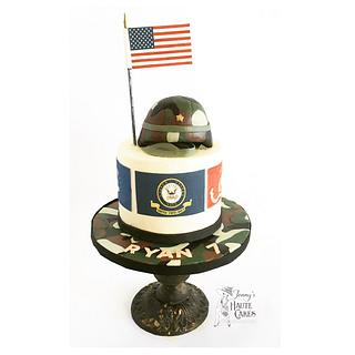 US Military Flags cake