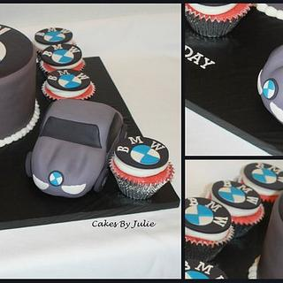 BMW Cake and Cupcakes!
