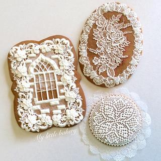 """White cookies - Cake by Nadia """"My Little Bakery"""""""