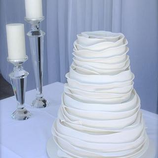Contemporary Ruffles - Cake by Jo Kavanagh
