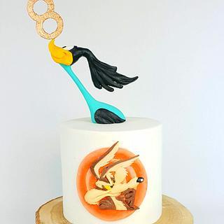 Roadrunner & Coyote Birthday Cake