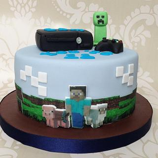 Xbox 360 Minecraft cake