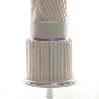 """Pleated Elegance""   - Cake by Jessie lee cakes"