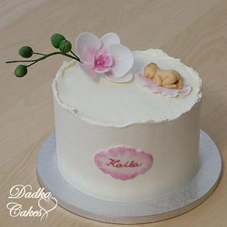 Orchid for baptism - Cake by Dadka Cakes