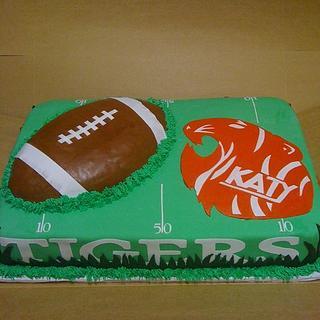 KATY TIGERS CAKE - Cake by sugarmommas