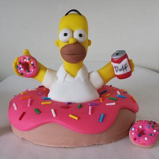Homer Simpson cake topper