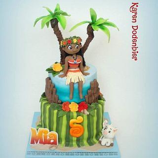 Moana - Cake by Karen Dodenbier