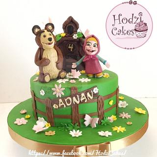 Masha & the bear Cake 💚💛💚