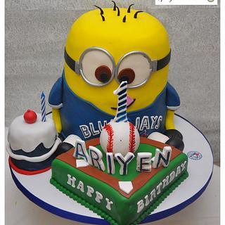 Blue Jays Minion Cake