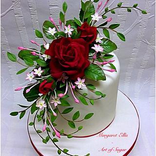 """Be my valentine"" - Cake by Margaret Ellis - Art of Sugar"