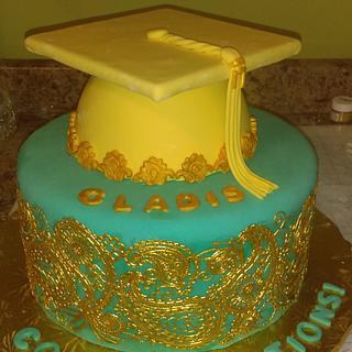 Gladis' Indian Style Grad Cake