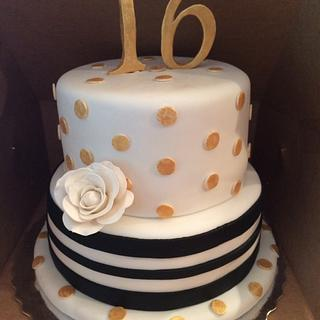 Kate Spade Inspired Sweet 16 Cake