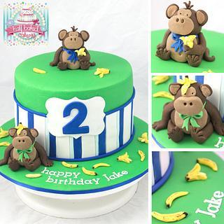 cheeky monkeys - Cake by Sheridan @HalfBakedCakery