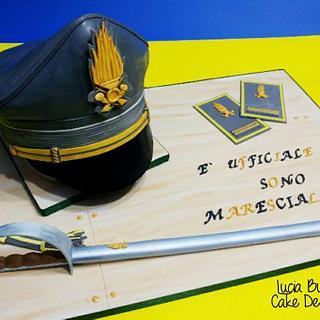 Cappello Maresciallo  - Cake by Lucia Busico