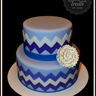 Chevron pattern cake - Cake by YummyTreatsbyYane